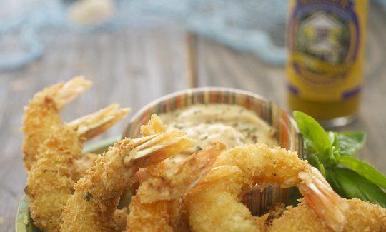 Panko Shrimp with Honey Mustard Aïoli Sauce