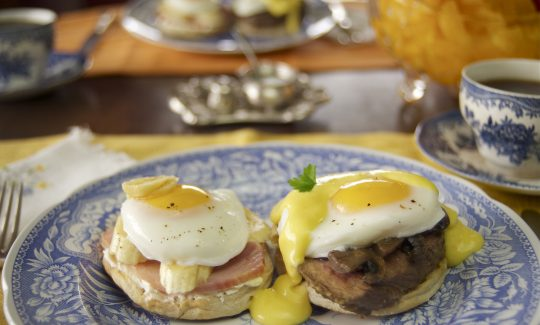Hot Honey Mustard Eggs Benedicts