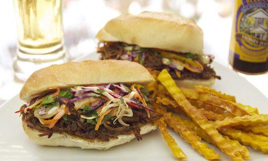 Belcour Honey Jerked Pulled Pork Sandwiches
