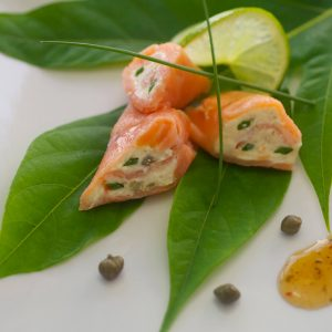 Belcour Smoked Salmon Rolls