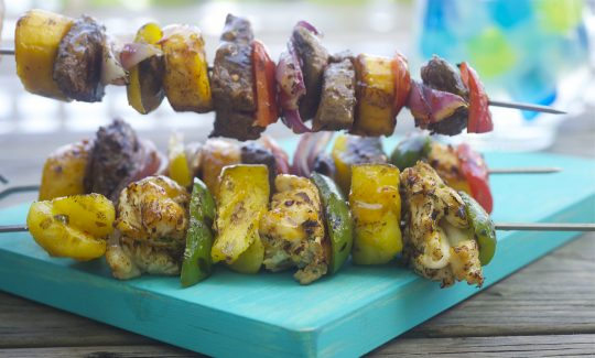 Honey Mustard Lobster or Shrimp Kebabs
